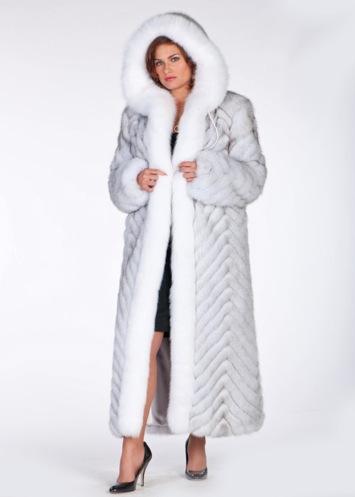 fox coat for women-hooded fox fur coat-long fox fur coat