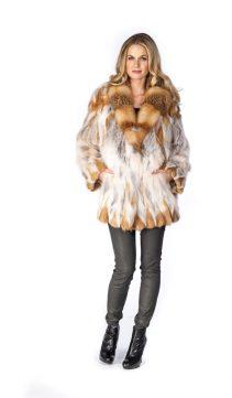 natural fox fur jackets-red fox fur-fox trim jacket
