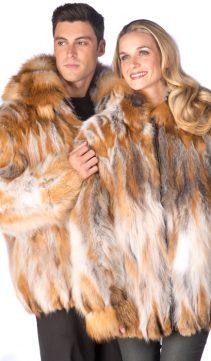 Ladies-Natural-Red-Fox-Jacket-Hooded