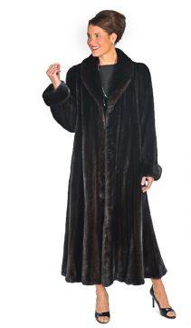 mahogany ladies mink fur coat real-elegant swing sway