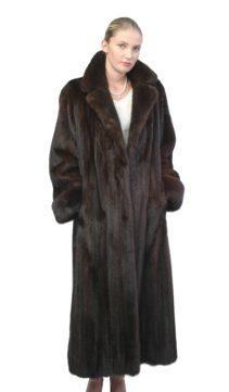 mink coat women's-mahogany-classic notch collar