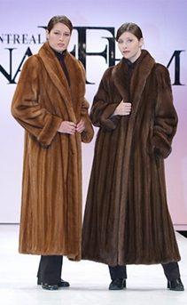 mink fur coat womens-classic shawl collar-demibuff