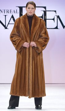 mink coat real-golden dyed-female shawl collar