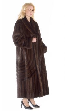 real mink coat for women-mahogany mink-double-directional