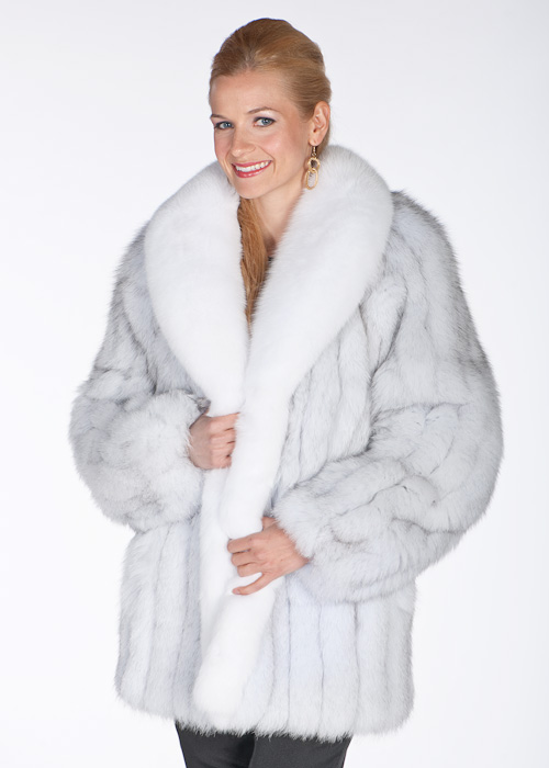 real fox fur jacket-natural-blue-white-fox fur jackets