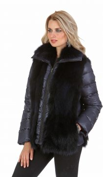 real fox fur vest-fox fur jacket-fox trim jacket