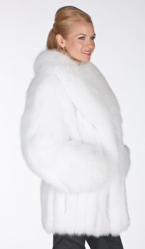 fox fur jackets-real fox fur jacket-white fox fur shawl collar