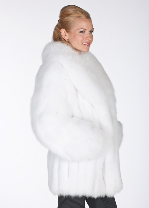 White fox fur - photo#26