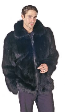 fox fur jacket for men-natural fox fur jacket-black fox fur