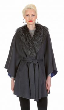 guy laroche fur coat-silver fox fur-mercury grey jacket