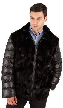 mens-mink-jacket-quilted-sleeves-HR031