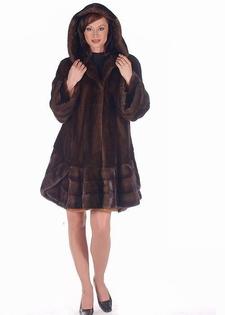mahogany mink hooded stroller jacket-sensational swing