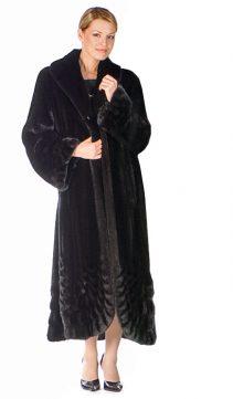 women's mink coat-natural ranch mink coat-long black