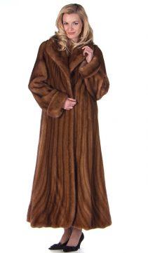 mink coat-womens real mink coat-trumpet-hemline-golden-mink