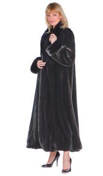 mink coat ladies-real mink coat-long coat for women