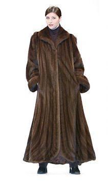 natural mink fur coat-long coat with fur coat