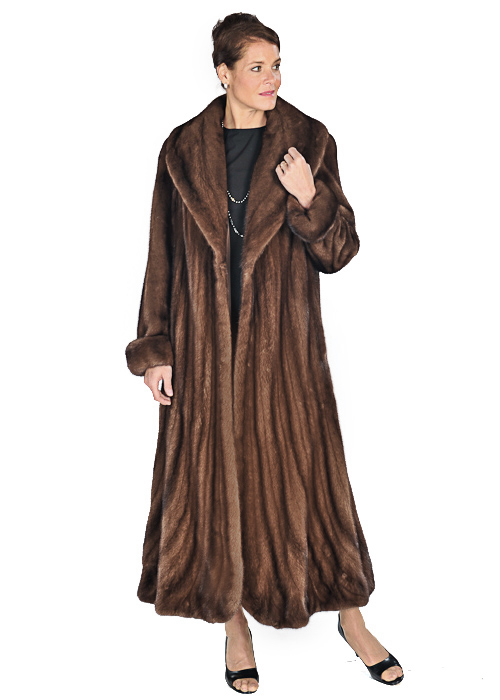 Mink Coat – Trumpet Hemline Soft Brown Mink | Madison Avenue Mall ...