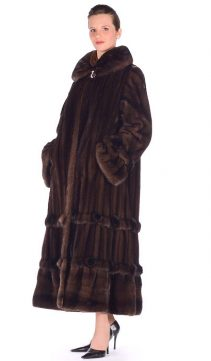 female mink coat-mahogany mink fur coat