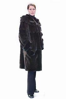 Mink-Fur-Jacket-3:4-Length-w:-Scalloped-Hood