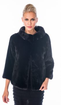 real jacket mink-original ranch mink boat neck