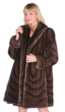soft brown-natural mink jacket-multi paneled stroller