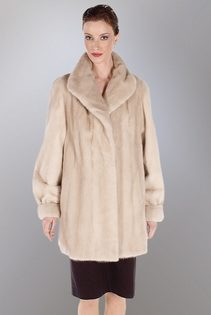 natural mink jacket coat-tourmaline soft cream