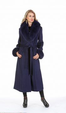 fur coat women's-fox fur collar and cuffs