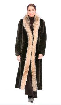 natural ranch mink coat-mink coat with fox trim