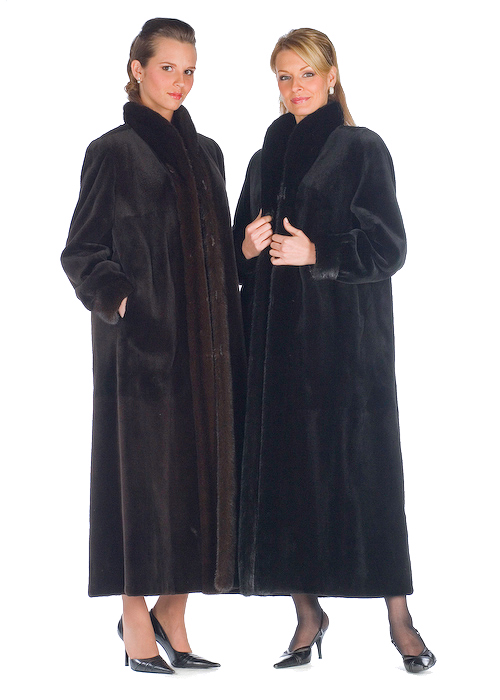 Sheared Dark Brown Mink Coat-Reversible to Fabric | Madison Avenue ...