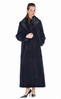 natural mink fur sheared jacket-shawl collar