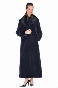 Sheared Mink Coat - Mink Shawl Collar