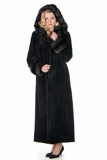 Sheared-Mink-Fur-Coat-Dark-Sable-Trimmed-Hood