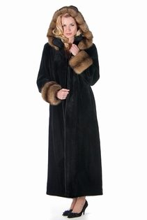 Sheared-Mink-Fur-Coat-Sable-Trimmed-Hood
