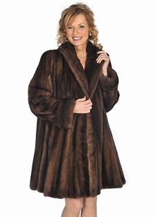 mink jacket natural fur soft brown-flirty flare mink stroller
