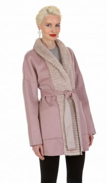 guy laroche cashmere jacket-cashmere coat with mink collar