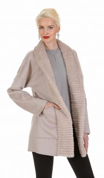 guy laroche cashmere jacket-cashmere coat with mink collar-pink