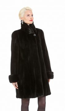 black mink jacket