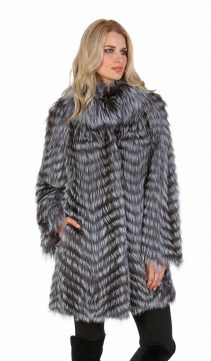 fox fur sweater jackets for women-silver fox fur sweater jacket-real feathered fox fur