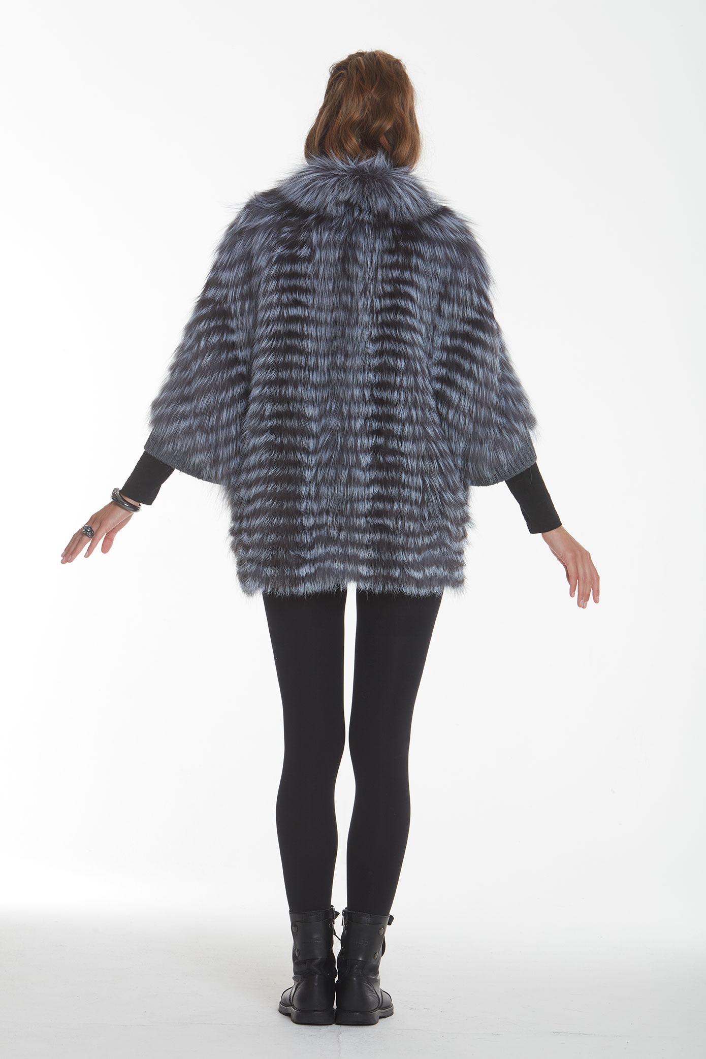 Fox fur sweater back view