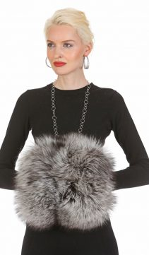 silver fox fur muffs and handwarmer muff