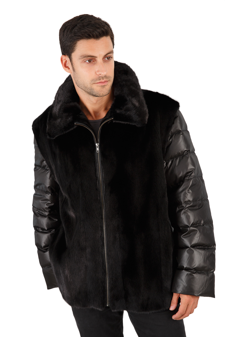 Men S Ranch Mink Jacket Quilted Sleeves Men S Mink
