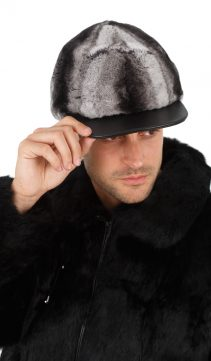 men's fur hat chinchillette fur hat