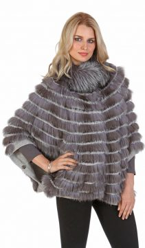 silver fox fur sweater-real fox fur sweater-plus size