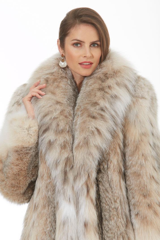 Canadian Lynx Jacket Stroller Shawl Collar Softly