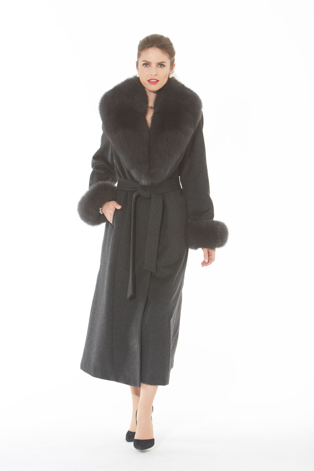 Greylady S Hearth February 2014: Charcoal Grey Women's Cashmere Coat