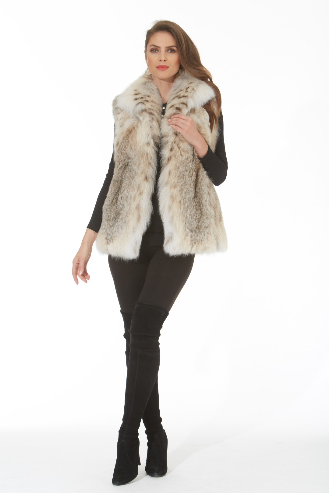 canadian lynx vest u2013 wing collar madison avenue mall furs