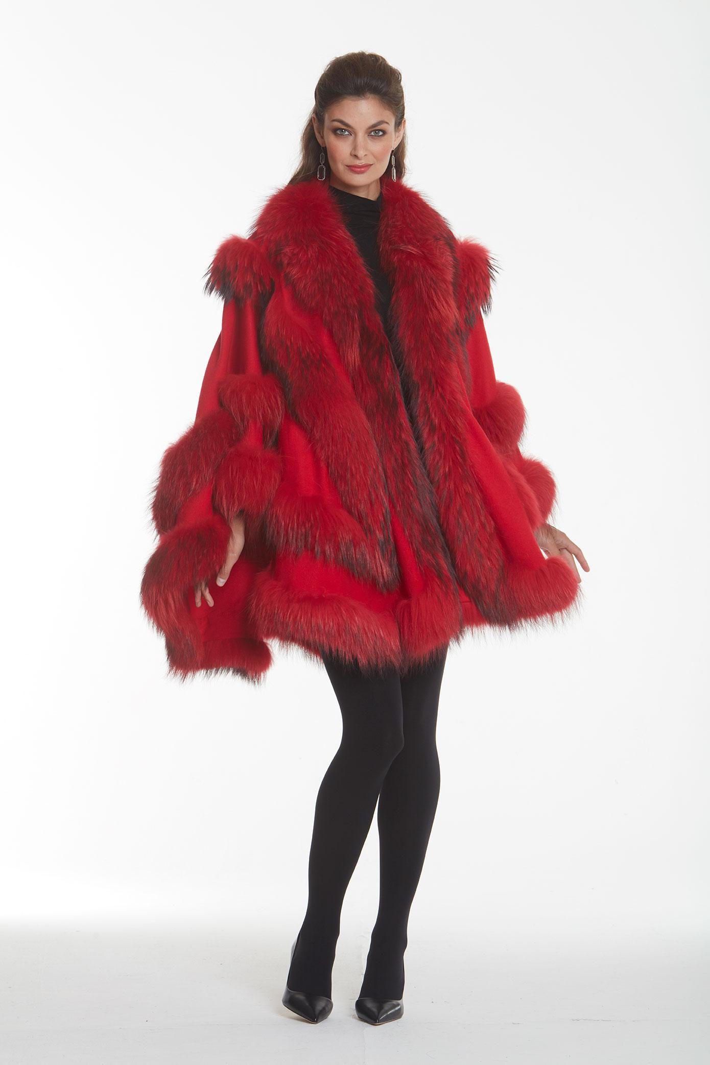 red-cashmere-cape-fur-trim