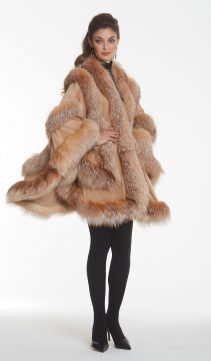 camel-cashmere-fur-trim-cape