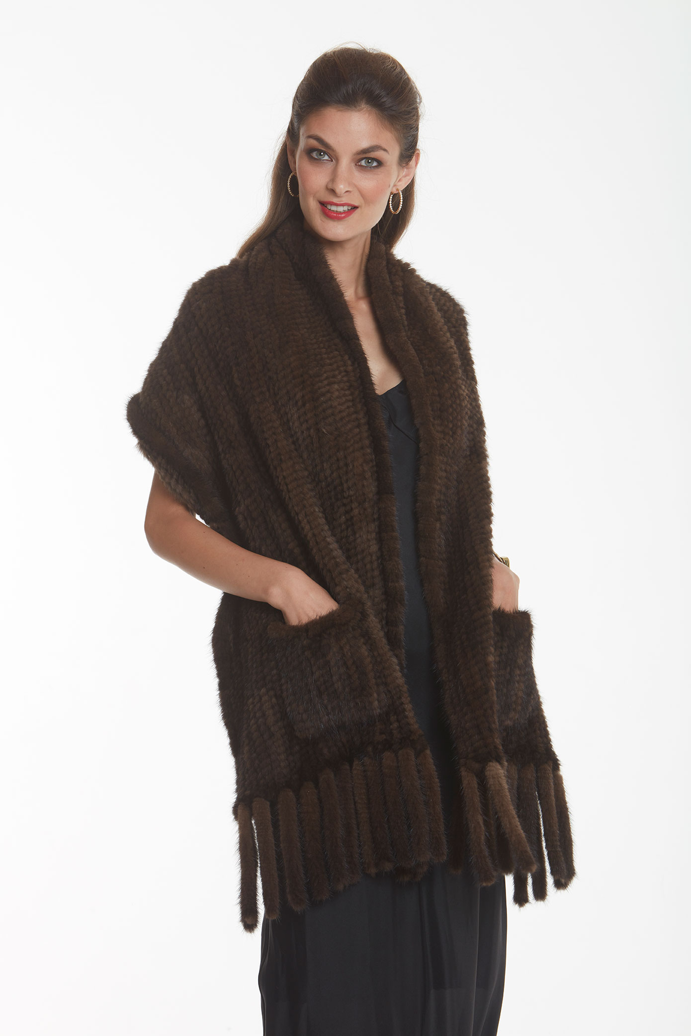 knitted-brown-mink-cape