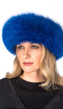 royal-blue-fox-fur-headwrap